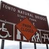 Tonto Natural Bridge Temporarily Closed
