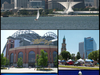 Top Milwaukee Skyline Center Left Miller Park City Hall
