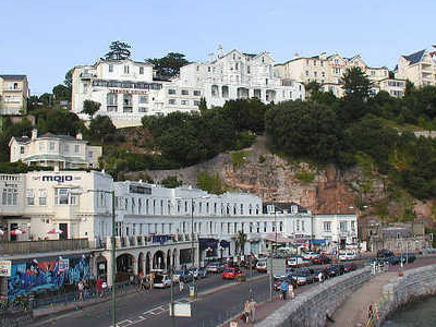 Part Of The Seafront Of Torquay, South Devon, At High Tide