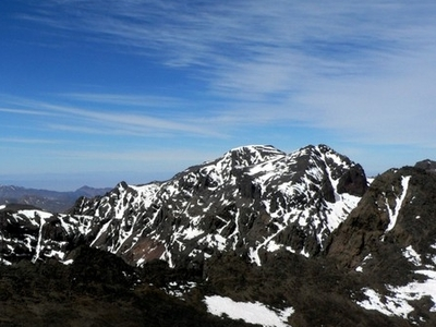 Toubkal Mountain In Toubkal National Park In The High Atlas