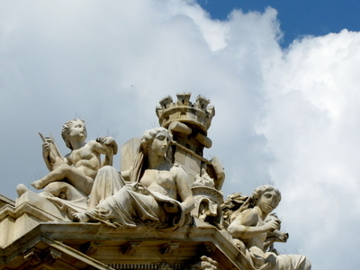The Sculptures On Top Of The Toulon Opera