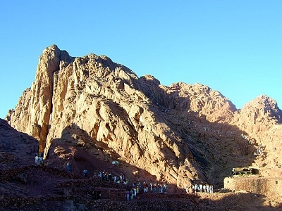 Tourists Over Mount Sinai - Egypt