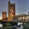 Tower Bridge At Sunset - Old Sacramento