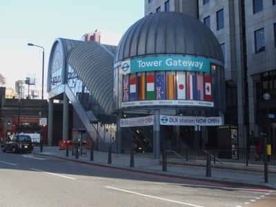 Tower Gateway DLR Station Entrance