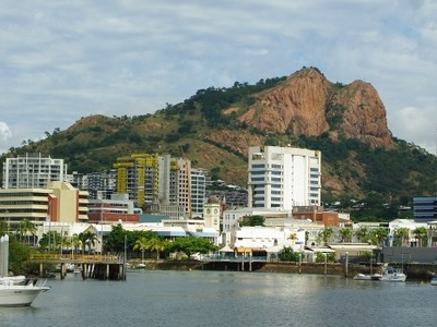 The CBD From Museum Of Tropical Queensland With Castle Hill