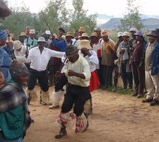 Traditional Men's Stick Dance - Lesotho