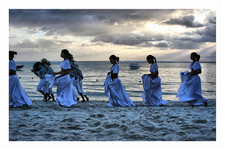 Traditional Sega Dancers On The Beach