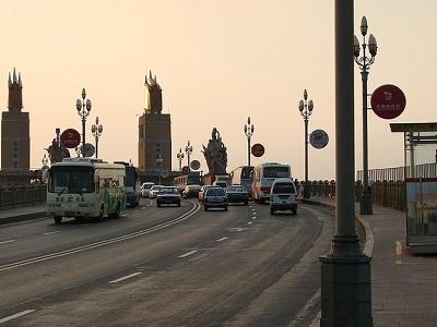 Traffic Over Nanjing Yangtze River Bridge