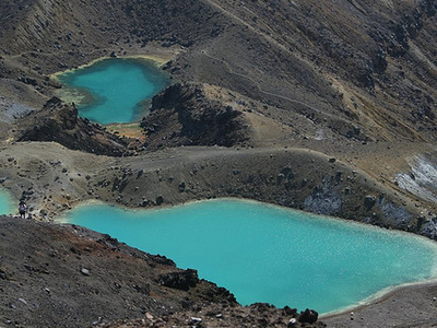 Trail Out Of Emerald Lakes - Tongariro