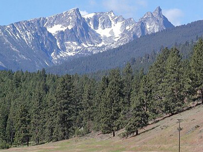 Trapper Peak From US 93 Near Conner