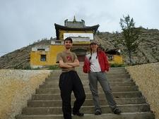 Travellers At Tsetserleg Buddhist Monastery