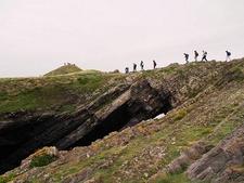 Trekking Rhossili Bay Cliffs Walk UK Wales