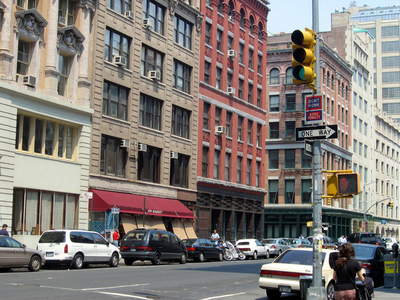 Hudson Street At North Moore Street In Tribeca