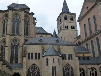 Trier Cathedral Seen From The Cloister