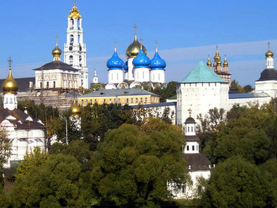 Modern View Of The Trinity Lavra.