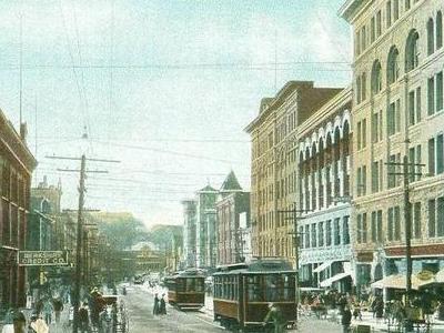 Trolleys On Main Street North  Adams