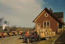 Trucks Outside A Starch Factory