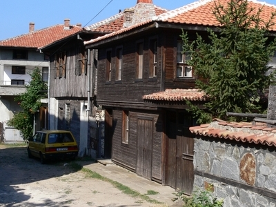 Traditional Wooden Houses In Vasiliko
