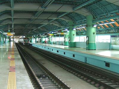 Ttukseom Resort Station Platform