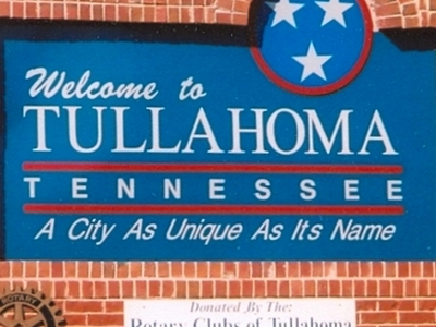 Tullahoma Welcome Sign