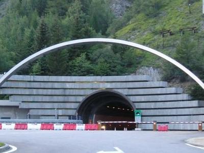 Mont Blanc Tunnel Entrance