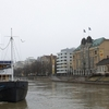 Turku City Bisected By River Aura