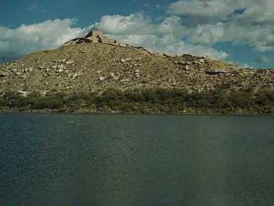 Tuzigoot Viewed From Across The Old Tailings Pond