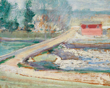 Twachtman View From The Holley House