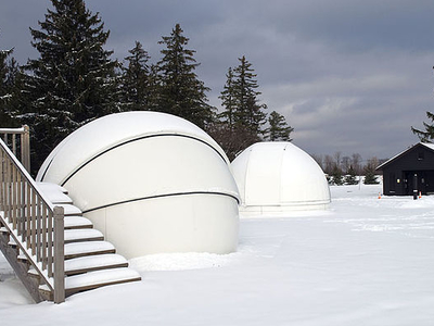 Two Of The Park's Three Astronomy Domes