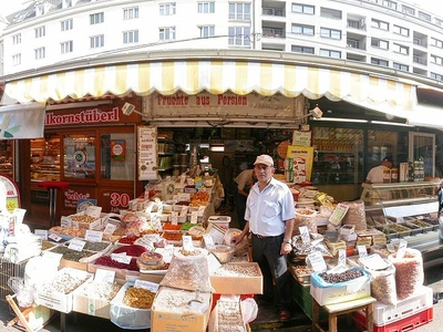 Typical Market Stall At The Naschmarkt