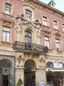 Typical House With Caryatids And Jugendstil Balcony