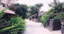 Typical Street Scene On Taketomi
