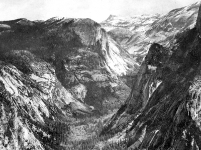 Tenaya Canyon, Viewed From Glacier Point