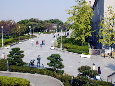 In Front Of The Osaka Municipal Museum Of Art
