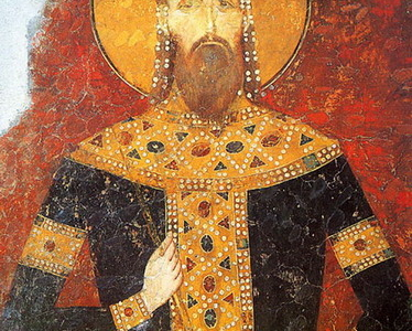 The Fresco Of King Milutin Bogorodica Ljevika
