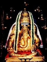 The Pillaiyar Murti Adorned In Gold