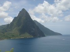 The Pitons At Soufriere Saint Lucia