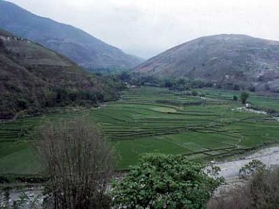The Red River Between Honghe And Nansha In Yunnan China.