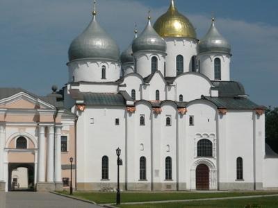 The Saint Sophia Cathedral In Novgorod.