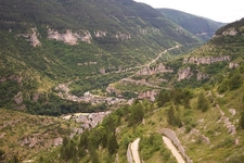 The Town Of Sainte Enimie And The Gorges Du Tarn