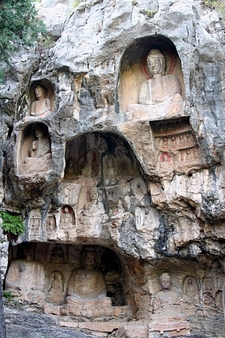 Relief Sculptures On The Thousand-Buddha Cliff