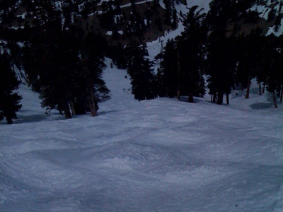 The Moguls On Emile's Run On Thunder Mountain