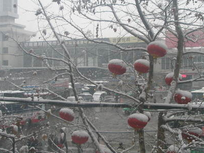 Tianshui Train Station In Winter