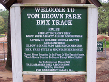 The Sign At BMX Track