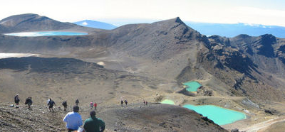 Tongariro Crossing Emerald Lakes Blue  Lake