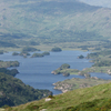 Upper Lake And The Black Valley From The Top Of Torc Mountain