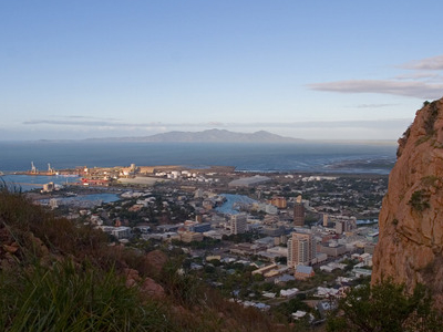 Townsville From Castle Hill Lookout Near Sunset