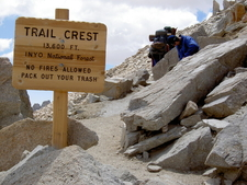 Trail Crest On Mount Whitney Trail