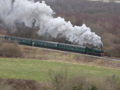 Swanage Railway Viewed From Corfe Castle