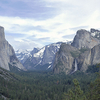 Yosemite Valley And Bridalveil Falls From Tunnel View